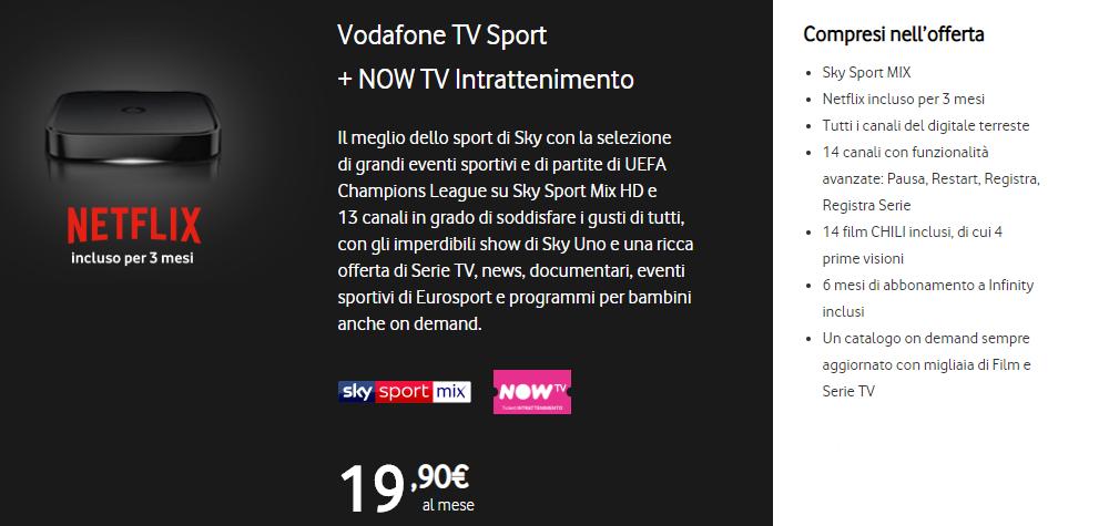 Vodafone TV SPORT e NOW TV