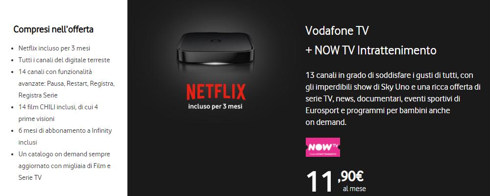 Vodafone TV e NOW TV
