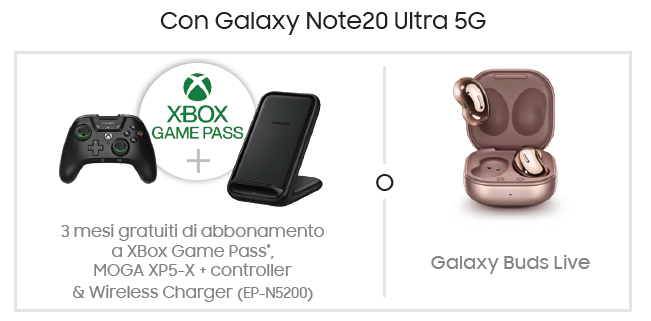 Regali con Galaxy Note 20 Ultra 5G